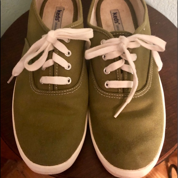 Keds Olive Green Sneakers Tennis Shoes